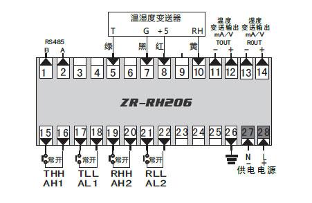 温湿度控制器 接线图