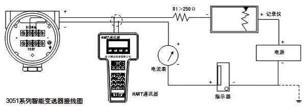 3051差压变送器接线图