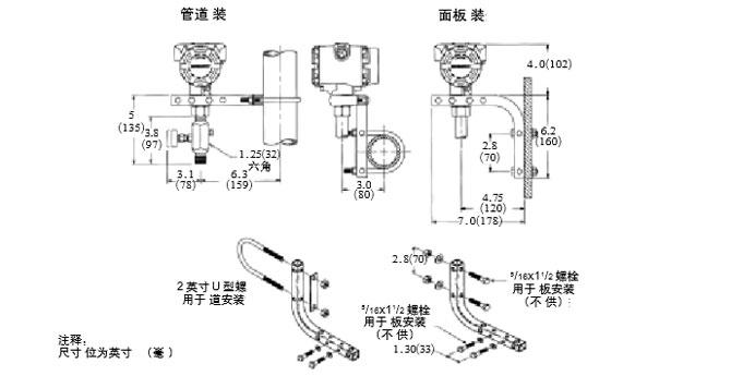 法兰式液位变送器安装图