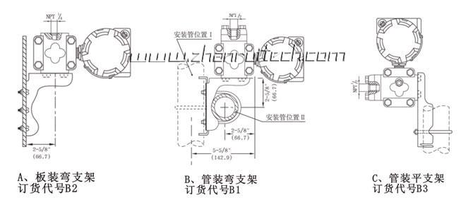 3051X微差压变送器安装图1