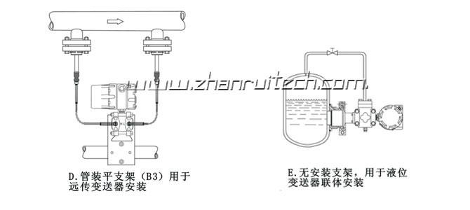 3051X微差压变送器安装图2