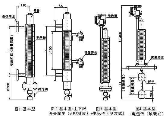 远传磁翻板液位计原理图