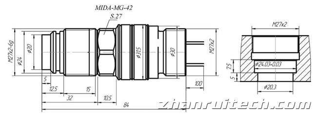 传感器外观尺寸图