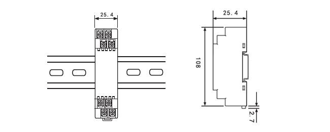ZR-25P隔离器外形尺寸