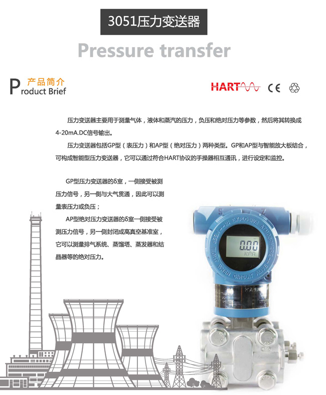 ZR3051GP压力变送器