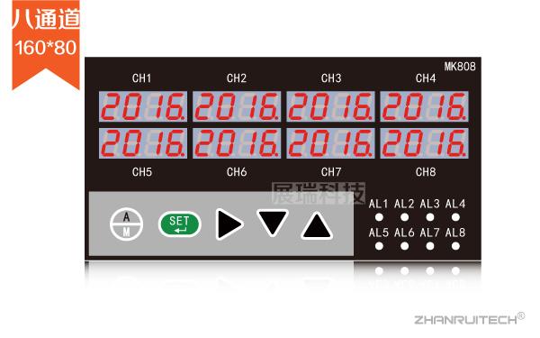 四回路/八回路数显表_多通道数字显示控制仪-2