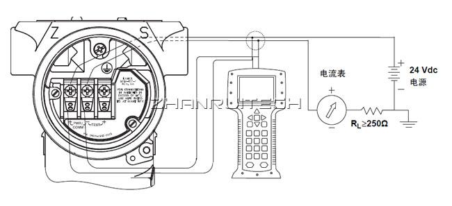 3051GP单法兰远传压力变送器接线图