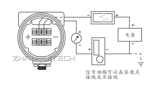 1151电容式压力变送器接线方式