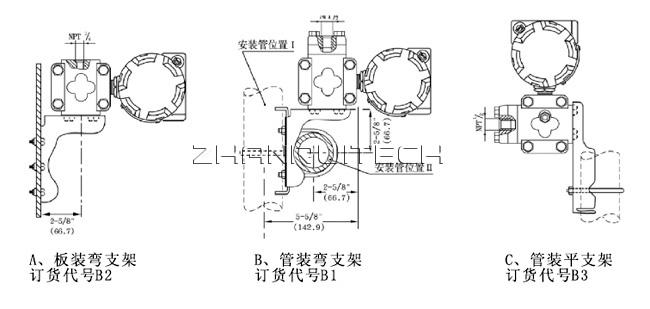 1151电容式压力变送器安装方式
