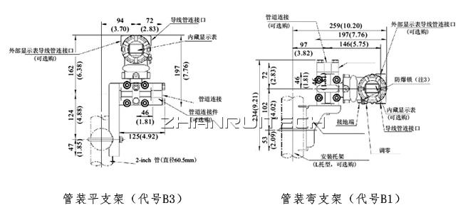 3051X单晶硅压力变送器安装方式