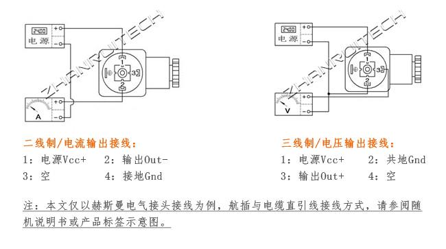 高温型压力传感器接线图
