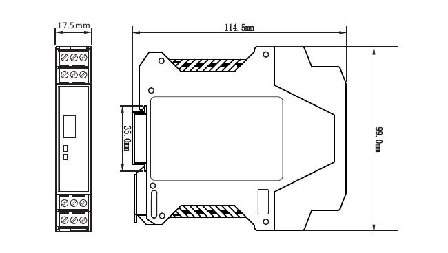 ZR-30智能信号隔离器外形尺寸