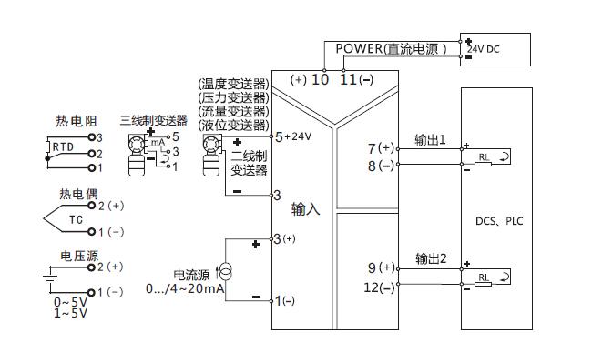ZR-30智能信号隔离器接线图