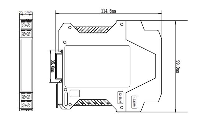 ZR-2000模拟量隔离器外形尺寸