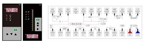 ZR-S803/TS803单光柱数显表接线图/
