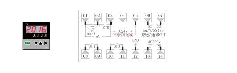 ZR-C703单回路数显表接线图