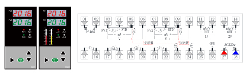 ZR-S823/TS823双光柱数显表接图