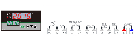 AT70B温度PID调节仪接线图(160*80)