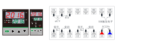 AT70A/70E/70F温度PID调节仪接线图(96*96/48*96/96*48)