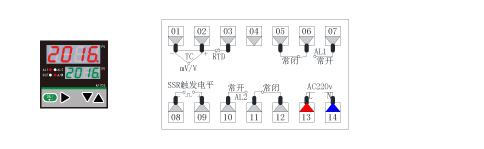 AT70D温度PID调节仪接线图(72*72)