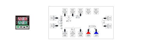 AT70D2温度PID调节仪接线图(48*48)