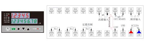 LK801流量积算仪接线图